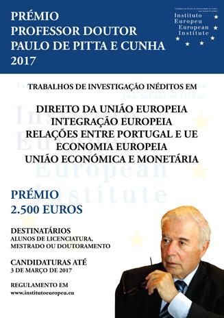 Prémio Professor Doutor Paulo de Pitta e Cunha 2017